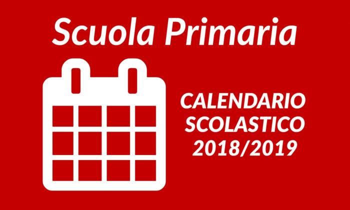 Calendario Scolastico – Scuola Primaria ed Infanzia